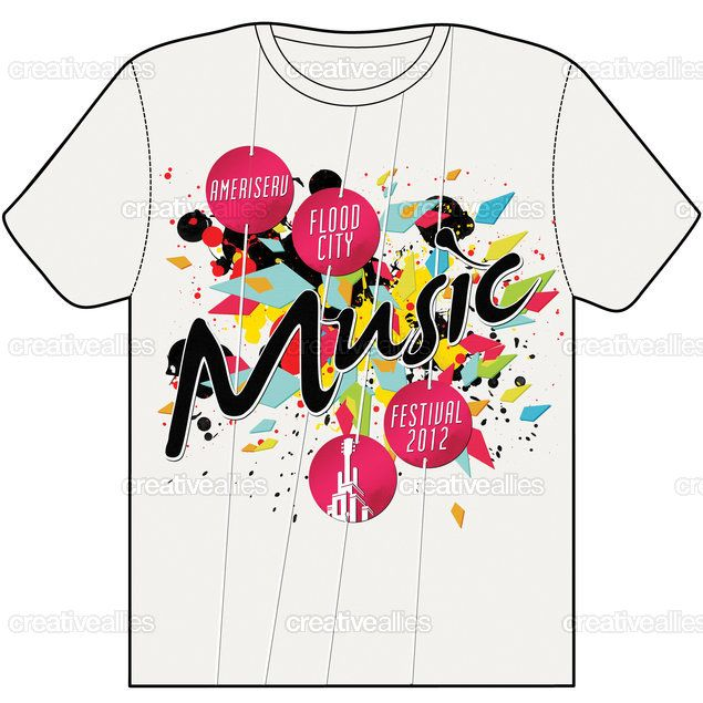 this is a explosive t shirts with loads of colour all over the design and the colour works very well