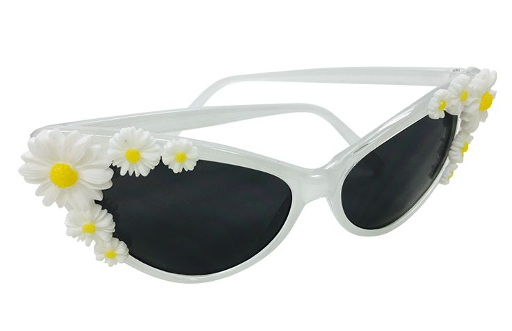 White Cat Eye Glasses with Daisies $6.95  Total Party 202-333-5950