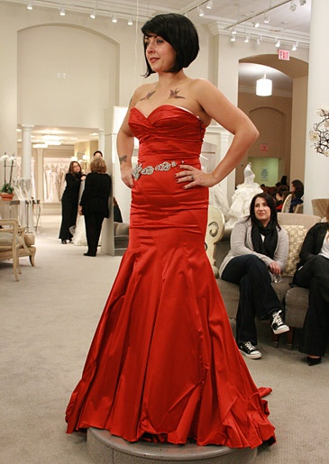 Red wedding dress!    Featured Dresses, Season 8 Part 5: Say Yes to the Dress: TLC