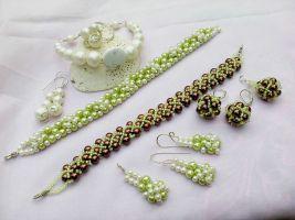 Bracelets earrings ring and pendants by Mirtus63