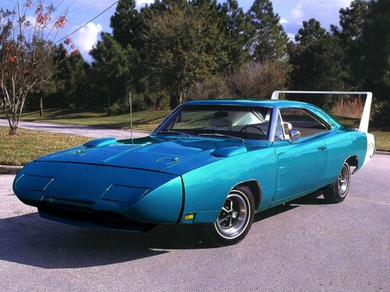 The more aerodynamic front. 1969 Charger Daytona.  Only the minimum required 500 were made for sale to the public, so they could qualify for the Daytona races.