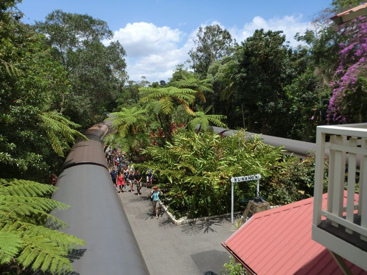 Kuranda railway station. A quirky jungle town in the mountains near Cairns, Queensland Australia. December 2012.