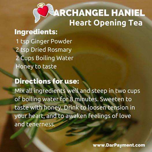 Archangel Haniel Heart Opening Tea. #Archangels