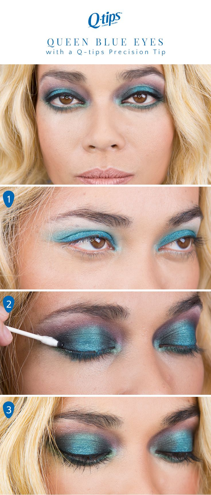 124 best beauty tips images on pinterest beauty tips count and make this bold blue eye makeup look yours for your next party with these simple ccuart Image collections
