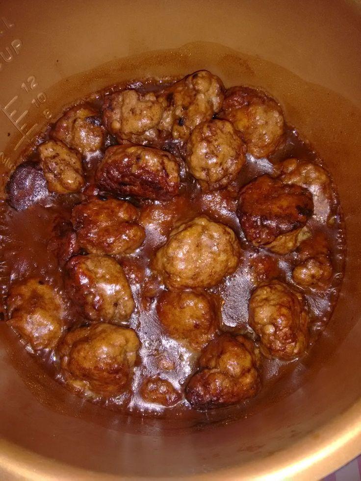 BUENOS RATOS LOLA: Albóndigas caramelizadas en olla newcook.