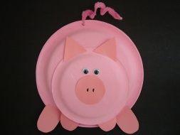 Pig paper plate craft
