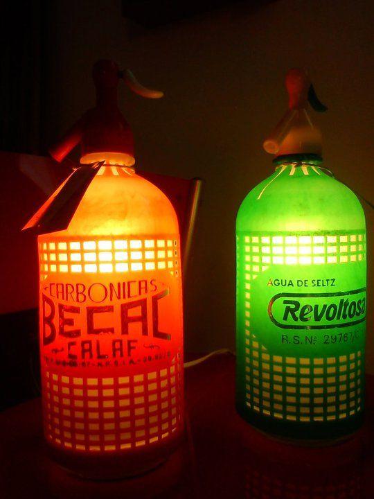 Original lampara con sifones