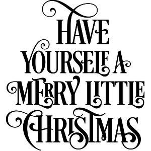 Silhouette Design Store - View Design #109294: have yourself a merry little christmas