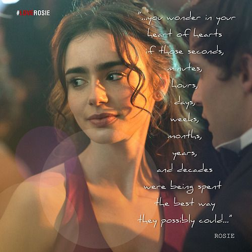 Quotes Love Rosie Tumblr : Love Rosie - Lily Collins Love, Rosie... Pinterest Tiny dancer ...
