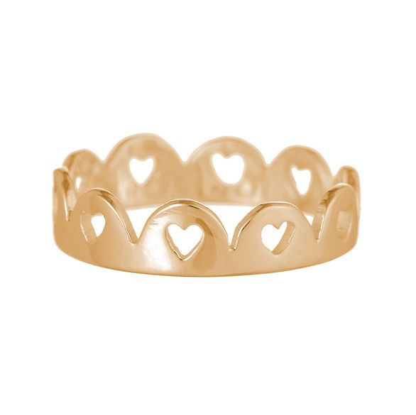 Crown of Hearts Ring - Rose Gold - £195