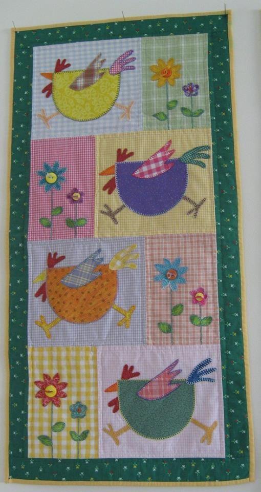 Fun chicken quilt