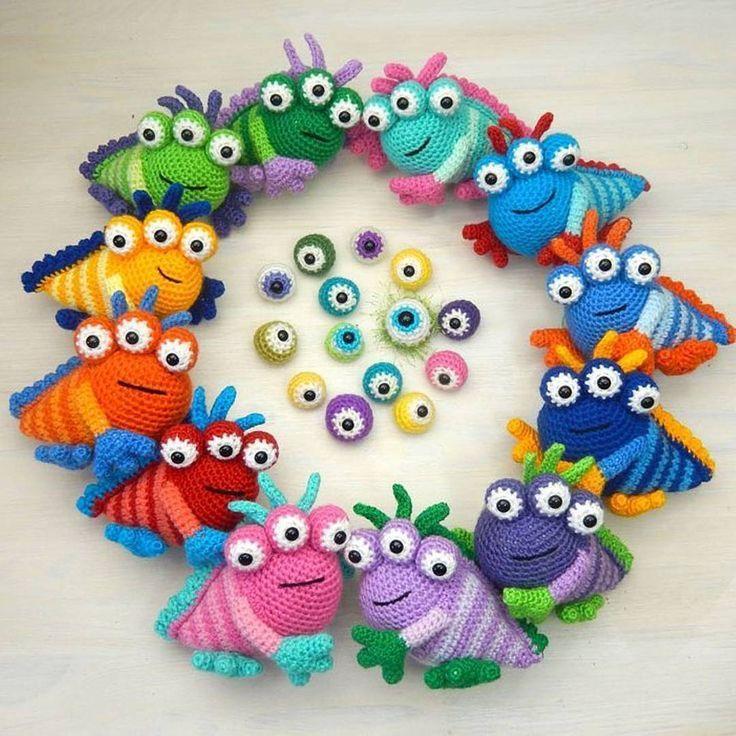 Monsters by Moji-Moji Design #crochet amigurumi