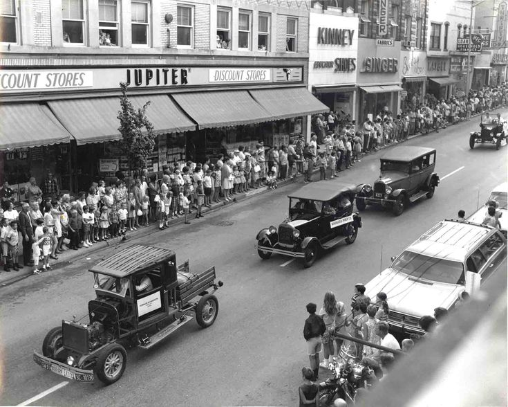 Parade on Market Street, Parkersburg in 1950's - from: mackey's antique clock repair parkersburg wv