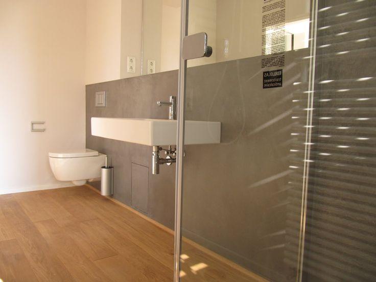 holzfliesen beton cire wei - Badezimmer Holzfliesen
