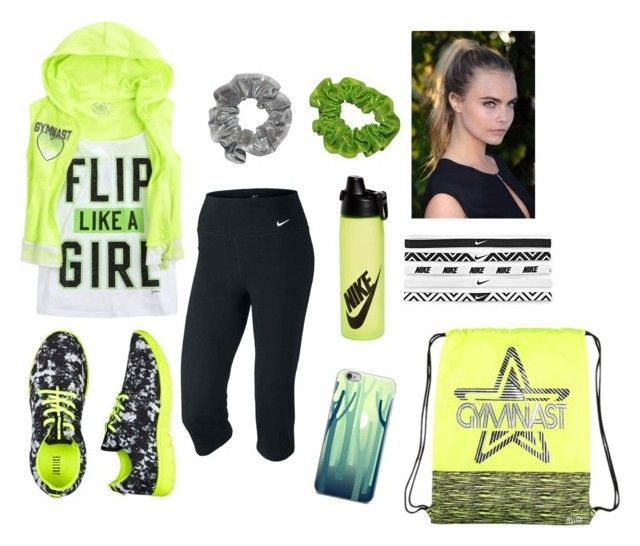 """""""Neon Gymnast"""" by stylelover-650 ❤ liked on Polyvore featuring NIKE"""