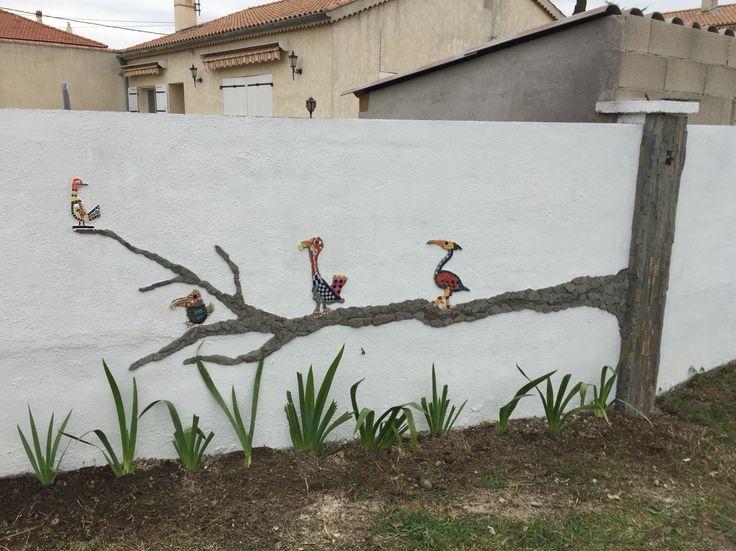 Mosa que sur un mur ext rieur mosa que pinterest - Mosaique sur mur exterieur ...