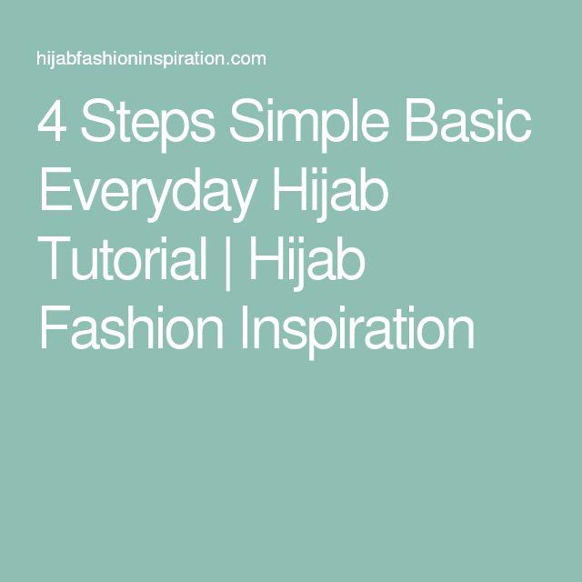 4 Steps Simple Basic Everyday Hijab Tutorial | Hijab Fashion Inspiration