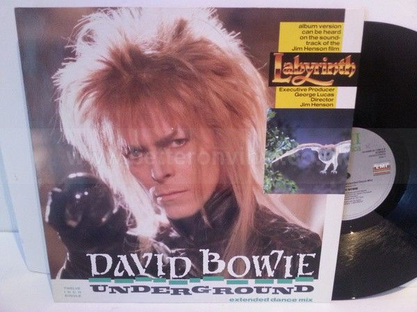 David Bowie UNDERGROUND EXTENDED DANCE MIX, 12 inch - SINGLES all genres, Including PICTURE DISCS, DIE-CUT, 7