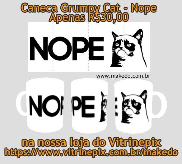 Agora a Make Do tem canecas no VitrinePix, naquele mesmo endereço que vendemos as fofíssimas camisetas do Soft Kitty. E em homenagem aos últimos posts, nossa primeira caneca é... GRUMPY CAT !! rs... espero que gostem.  Quem quiser o link direto da caneca é: http://www.vitrinepix.com.br/makedo/compre/produto/227646/Canecas ou se preferirem navegar na loja inteira (no Vitrinepix): http://www.vitrinepix.com.br/makedo