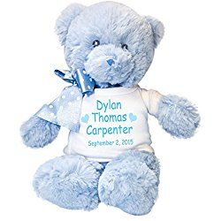 30 best personalized teddy bears for baby images on pinterest personalized blue teddy bear for baby boy negle Gallery
