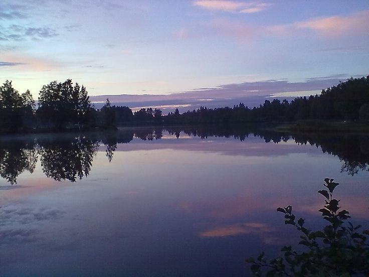 #Finland #lake #autumn #September #Kajaani