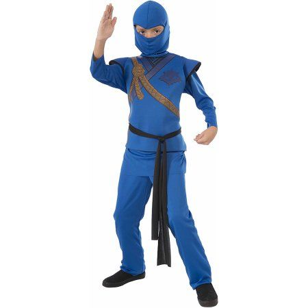 Blue Ninja Child Halloween Costume, Boy's, Size: Medium