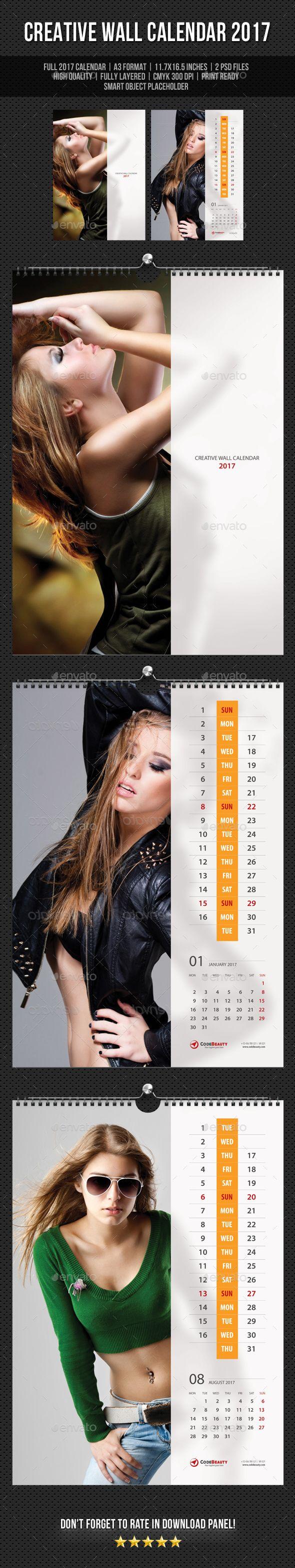 Creative Wall Calendar 2017 V12