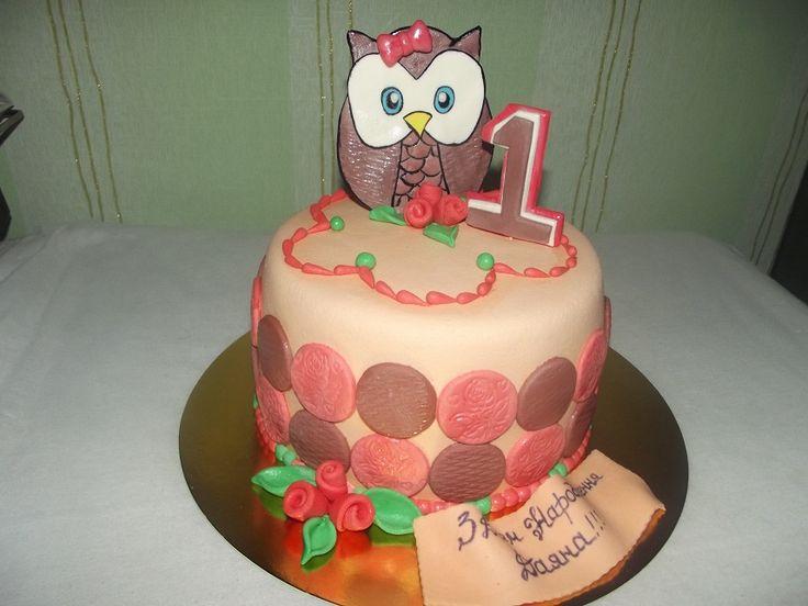 Сова #торт_на_заказ_умань #день_рождения #бисквитный_торт