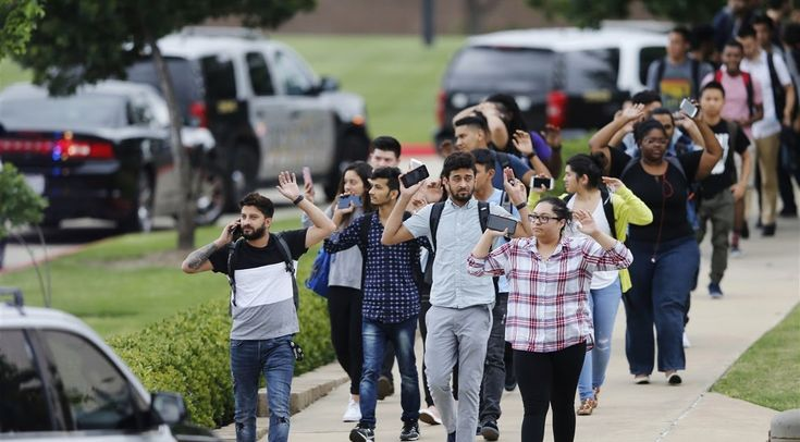 Private Officer Breaking News: 2 dead, including gunman, in shooting at Dallas-area community college Dallas TX May 4 2017) Two people were found dead Wednesday about an hour after a shooting was reported at North Lake College in the Dallas suburb of Irving. The college was placed on lockdown at 11:43 a.m. CDT, and Irving police later confirmed that shots had been fired at the school. One of them was presumed to be the shooter, and the incident appeared to be a murder-suicide.
