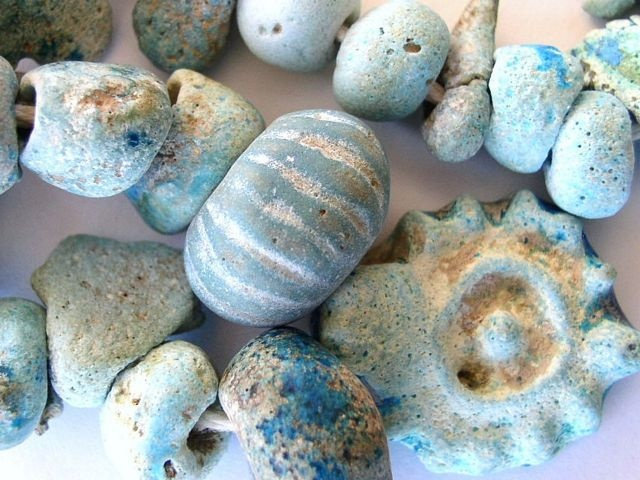 Ancient Faience Beads - Afghanistan These beads are over two thousand years old. Amazing.