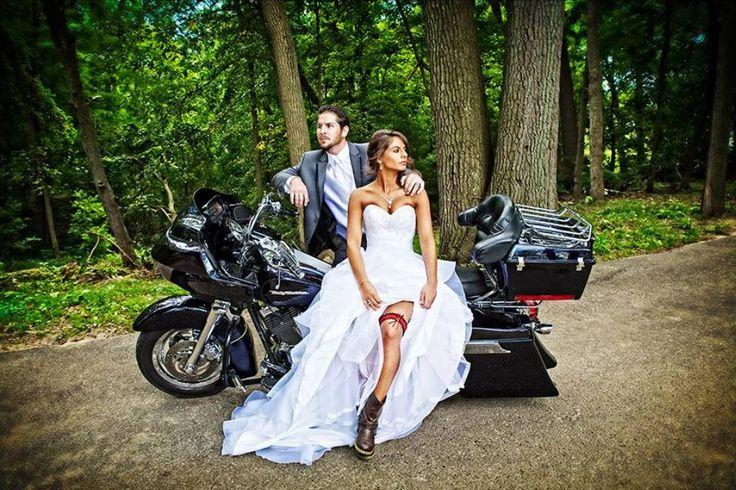 Motorbike in wedding