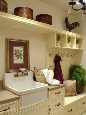 91 best images about laundry on pinterest basement for Country laundry room