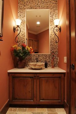 Garden Oaks Tuscan - mediterranean - powder room - houston - by Brickmoon Design