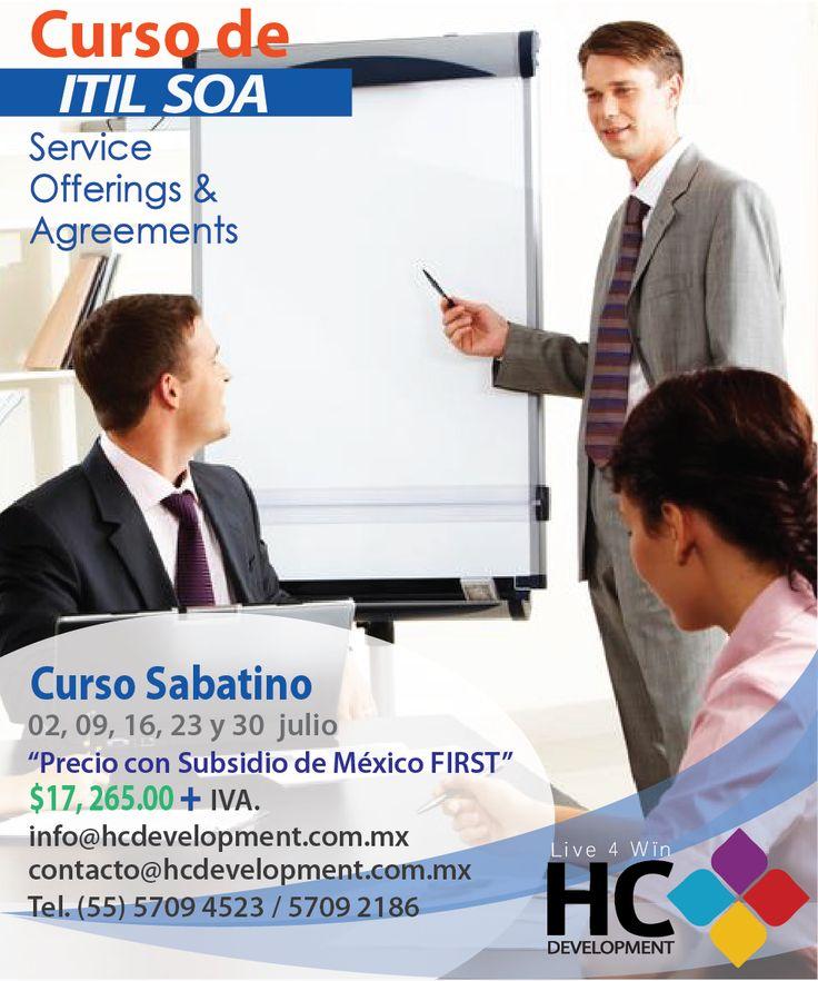 Curso Intermedio de  ITIL, enfocado a los acuerdos de servicio