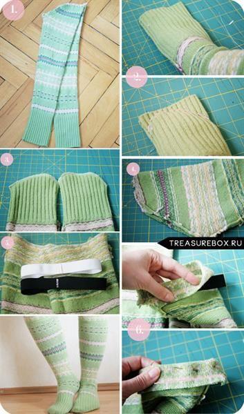 Как из свитера сделать носки из свитера