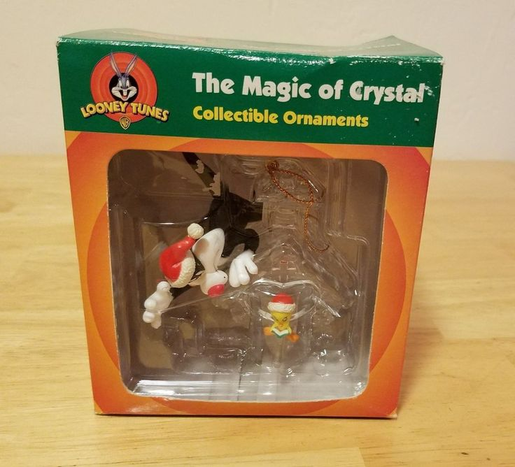 Looney Tunes Magic of Crystal Sylvester Tweety Clear Birdhouse Ornament - NIB