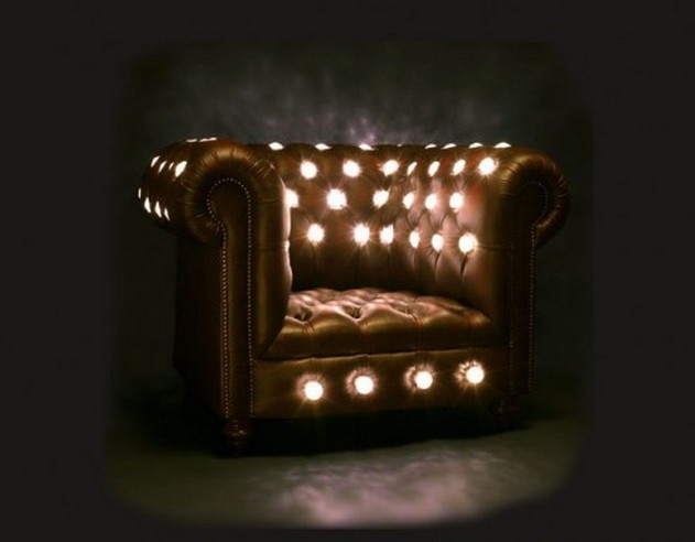 glowing sofa. unique home decorating idea #15