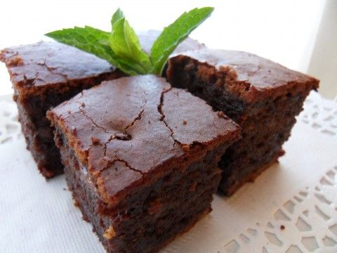 sweet rice flour brownies-