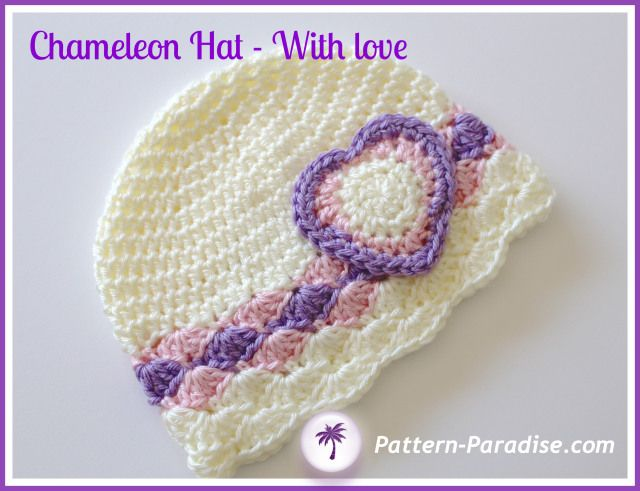 Chameleon Hat, free pattern, newborn to toddler sizes / also on ravelry: http://www.ravelry.com/patterns/library/chameleon-hat-pdf14-132