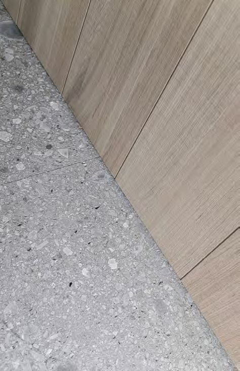 Detail - Wooden Cabinetry - Terrazzo Tile