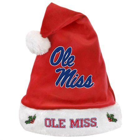 Ole Miss Solid Santa Hat, Multicolor