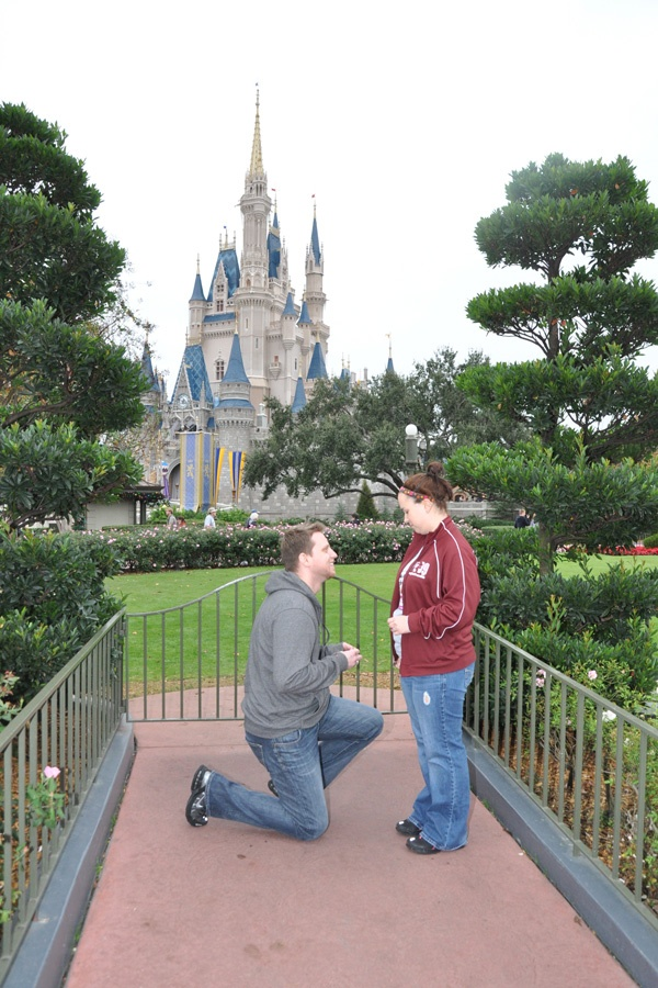 Proposal In Front Of Cinderella S Castle Disney