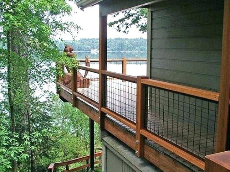 Wire Railings For Decks Hog Wire Deck Railing Deck Railing Ideas