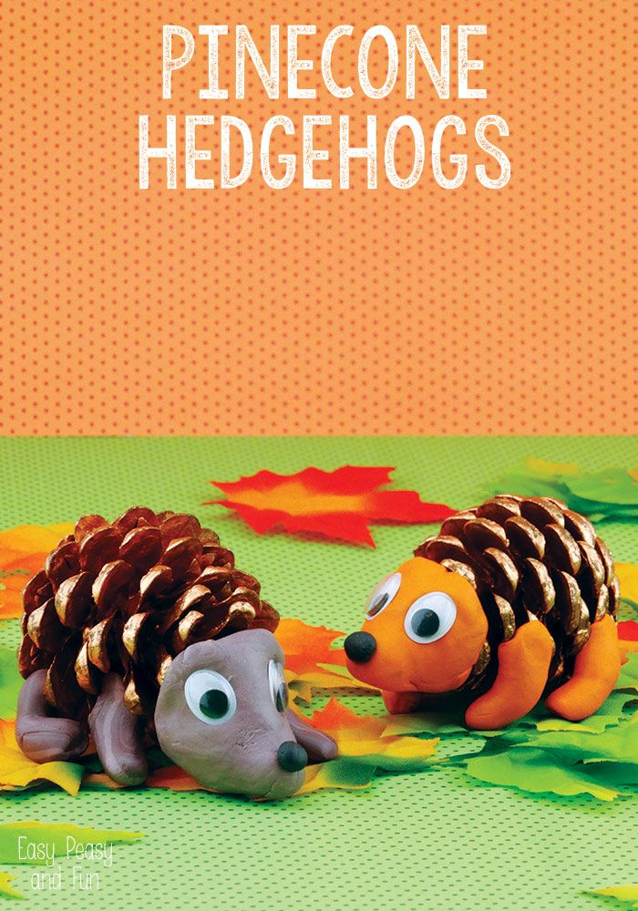 Pinecone Hedgehogs - Easy Peasy and Fun