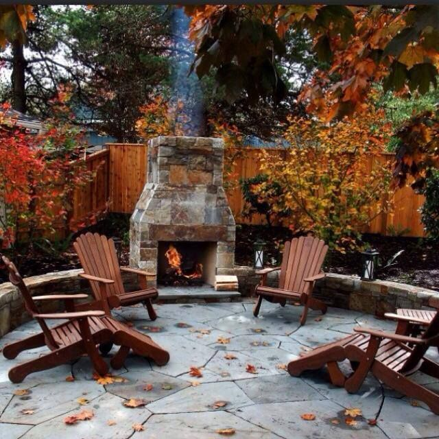 Outdoor fireplace setting117 best Outdoor Fireplace images on Pinterest   Backyard ideas  . Large Outdoor Fireplace. Home Design Ideas