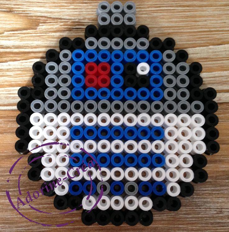 R2D2 Star Wars Christmas bauble hama perler beads by Adorine-crea