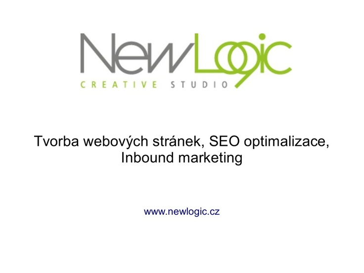 Prezentace New Logic Studio - tvorba www, seo optimalizace