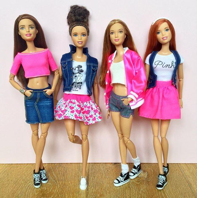 Denim & neon #barbie #barbiedoll #barbiemadetomove #madetomovebarbie…