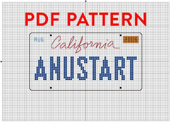 PDF PATTERN Anustart License Plate cross stitch