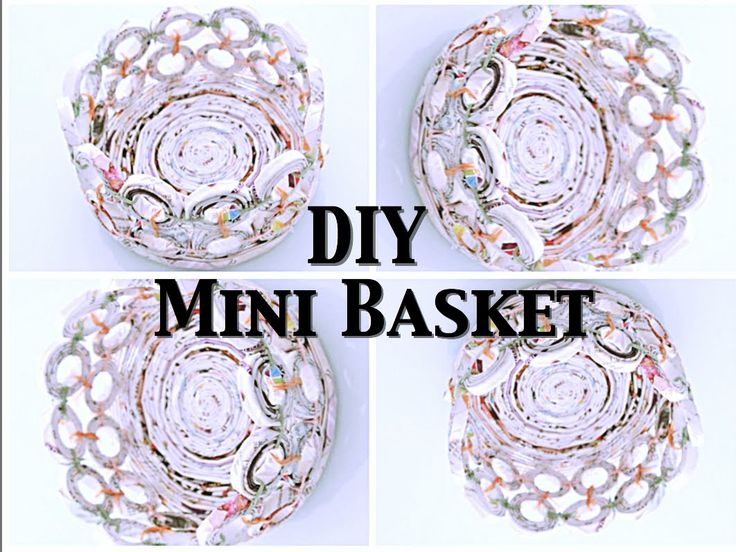 DIY: Mini Basket (Recycle Magazine)